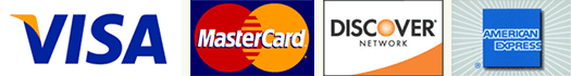 Accepted Major Credit Cards